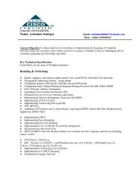 Sample Resume Network Administrator Sample Resume For Hardware And Networking For Fresher Resume For