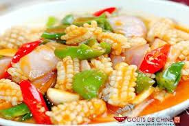 cuisiner le calamar calamar aux oignons recette chinoise
