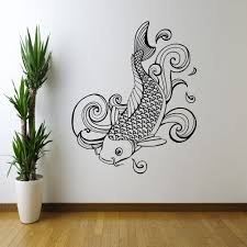 decoration ideas cool white sea horse wall art stencil on blue