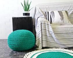 jute ottoman large floor cushion rectangular stuffed