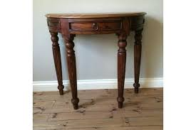 half moon console table with drawer half moon console table mango wood half moon console table photo 1