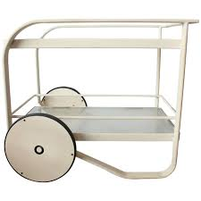 Richard Frinier Brown Jordan by Stylish Modern Bar Cart By Richard Frinier For Brown Jordan For