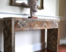 Wood Console Table Console Table Etsy