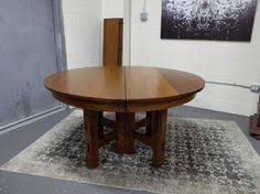 pedestal dining table with leaf c1910 54 round quarter sawn oak pedestal dining table with 4