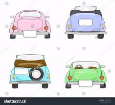 cartoon car back set retro cars back view stock vector 578375374 shutterstock