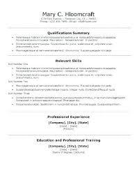 skills resume template relevant skills resume qualifications for resume sle skills