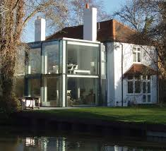 modern extensions house by canal with modern extension geograph org uk 664525