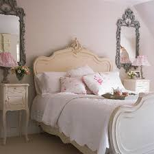 Shabby Chic Bedroom Decorating Ideas Classic Side Table And Curvy Ornate Headboad For Shabby Chic