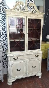Vintage China Cabinets 841 Vintage China Cabinet Bookcase Chippendale Style Painted