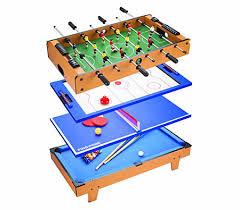 4 in one game table 4 in 1 table tennis air hockey pool foosball table soccer