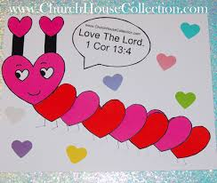 school valentines heart caterpillar s day craft for sunday school kids