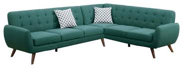 Retro Sectional Sofas Teal Sectional Sofa Bemine Co