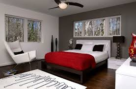 polished passion 19 dashing bedrooms in red and gray