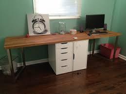 Office Desk With Keyboard Tray Desk Wood Desks For Home Office Black Solid Wood Desk Solid