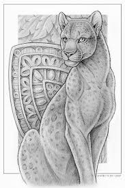 black leopard card sketch by synnabar on deviantart