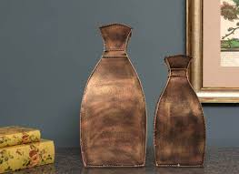 square shape metal showpiece pots home décor online craftedindia