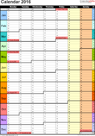 Calendar Template For Excel 2017 Yearly Calendar Template
