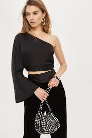 one shoulder blouse satin one shoulder blouse topshop