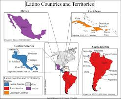 Central America Map Labeled by Latino Wikipedia