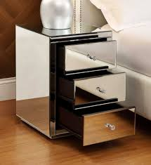 Mirrored Bedside Tables Vegas Mirrored Bedside Table 3 Drawer Mirror Bedroom Furniture