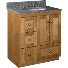 Bathroom Vanity With Drawers On Left Side Simplicity By Strasser Ultraline 30 In W X 21 In D X 34 5 In H