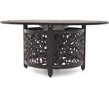 Patio Propane Fire Pit 52 Inch Propane Fire Pit Chat Table By Lakeview Outdoor Designs