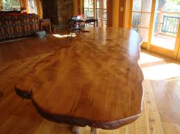 rustic dining table live edge wood slabs