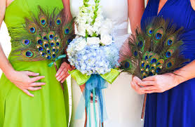 peacock wedding ideas anything that glitters diy peacock wedding projects part ii