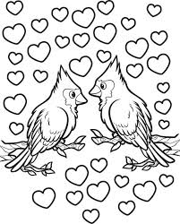 free printable love birds valentine u0027s coloring kids