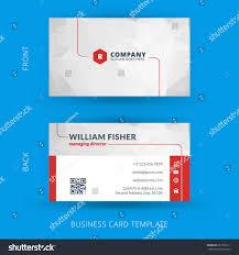 Biz Card Template Vector Modern Creative Clean Business Card Stock Vector 257356111