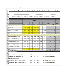 Business Valuation Report Template Worksheet by 8 Stock Spreadsheet Templates Free Sle Exle Format