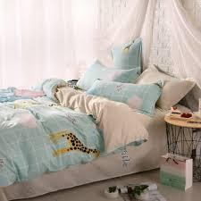 Giraffe Bed Set Weina 4 Cotton Warm Giraffe Bedding Set 50 39