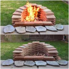 Firepit Bricks How To Build A Pit With Bricks Square Cinder Block