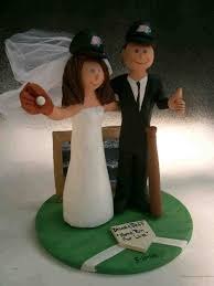 baseball cake topper play wedding cake topper