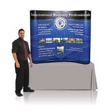 table top banners for trade shows tabletop 6 six foot pop up trade show display full graphic package