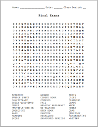 printable word search final exams free printable word search puzzle student handouts