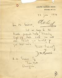 letter to r a grierson from j m barrie 22 june 1924