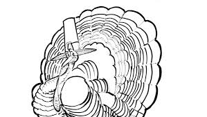 turkey picture to color for thanksgiving turkey time coloring contest