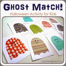 little family fun ghost matching game