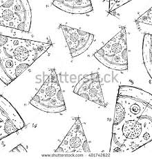 pizza food vector flat illustration chalk stock vector 498279970