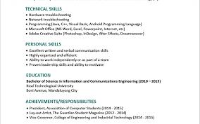 sle resume for ojt industrial engineering students printable of nurseume sle objective exles graduate