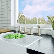 spot defense stainless steel allegan 2 handle kitchen faucet f