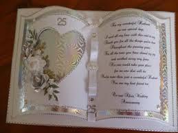 25th Wedding Anniversary Card Designs