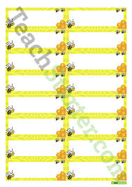 Desk Name Tags by Desk Name Tags Bees