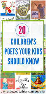 printable activities children s books children s poets your kids should know and will love book lists