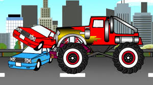 you tube monster truck videos monster truck auta bajki dla dzieci cartoons for kids youtube
