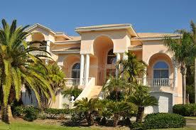 enormous neo mediterranean home stock photo image 17929338