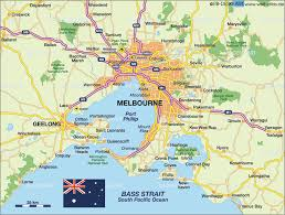 Physical Map Of Australia Melbourne Map
