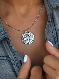 wax seal jewelry handmade sterling silver compass wax seal necklace happygolicky