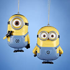 despicable me minion dave and carl ornament 2 assorted kurt adler